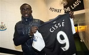 Newcastle striker Papiss Demba Cisse